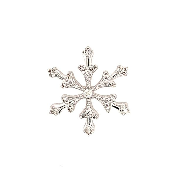14 Karat White Gold Diamond Snowfake Pendant Bluestone Jewelry Tahoe City, CA