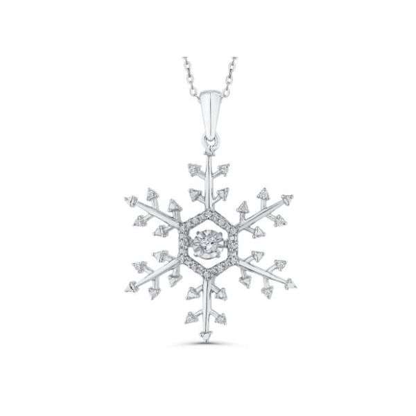 Sterling Silver Diamond Snowflake Pendant with Chain Bluestone Jewelry Tahoe City, CA