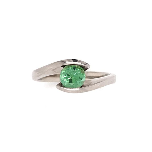 14k White Gold Mint Tourmaline Ring Image 2 Bluestone Jewelry Tahoe City, CA