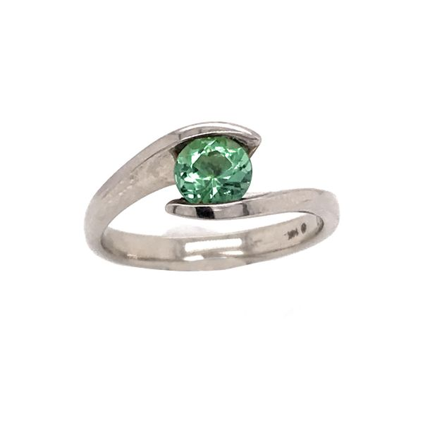 14k White Gold Mint Tourmaline Ring Bluestone Jewelry Tahoe City, CA