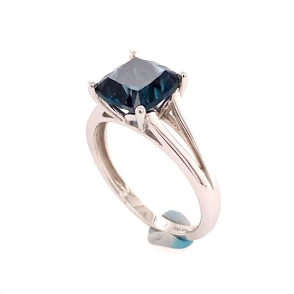 14kt White Gold London Blue Topaz Ring Image 2 Bluestone Jewelry Tahoe City, CA