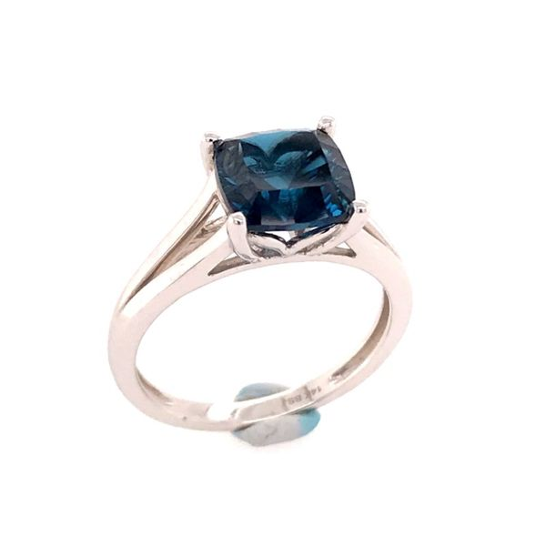 14kt White Gold London Blue Topaz Ring Bluestone Jewelry Tahoe City, CA