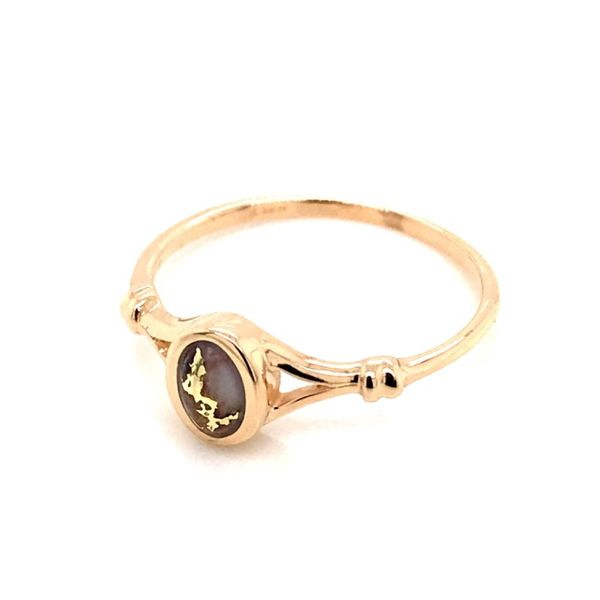 14K Yellow Gold Ring w/ Gold Quartz- Ring size 7 Image 2 Bluestone Jewelry Tahoe City, CA