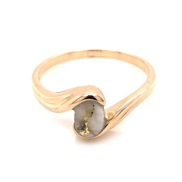 14K Yellow Gold Ring w/ Gold Quartz- Ring size 7.5 Bluestone Jewelry Tahoe City, CA