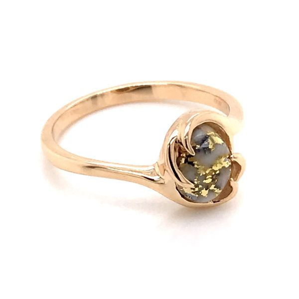 14K Yellow Gold Ring w/ Gold Quartz- Ring size 7.25 Image 2 Bluestone Jewelry Tahoe City, CA