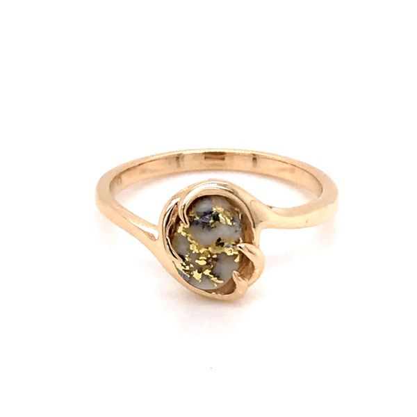 14K Yellow Gold Ring w/ Gold Quartz- Ring size 7.25 Image 3 Bluestone Jewelry Tahoe City, CA