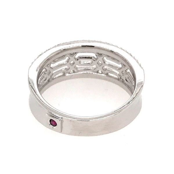 Sterling Silver with Rhodium Plating Ring with CZs and Ruby Image 2 Bluestone Jewelry Tahoe City, CA
