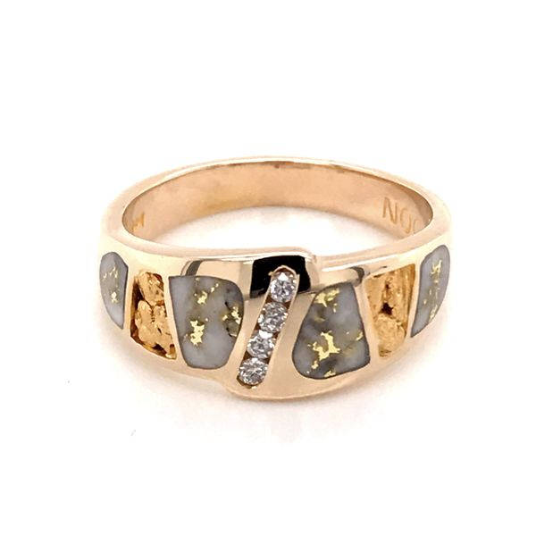 14kt YG Diamond and Gold Quartz Ring Image 2 Bluestone Jewelry Tahoe City, CA