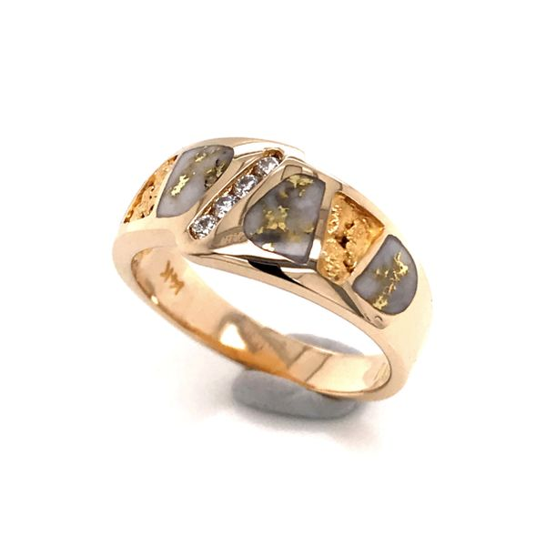 14kt YG Diamond and Gold Quartz Ring Image 3 Bluestone Jewelry Tahoe City, CA