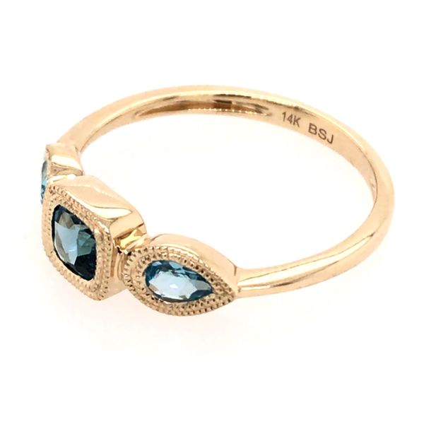 14kt Yellow Gold London Blue and Swiss Blue Topaz Ring Image 3 Bluestone Jewelry Tahoe City, CA