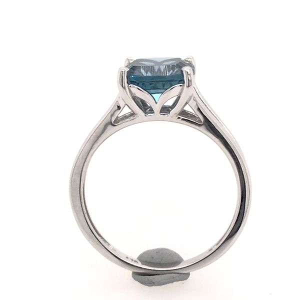 14 Karat White Gold Ring with London Blue Topaz- Size 6 Image 2 Bluestone Jewelry Tahoe City, CA