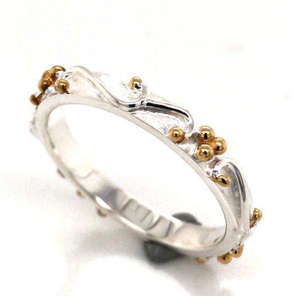 Silver & 22kt Yellow Gold Ring- Size 8 Image 2 Bluestone Jewelry Tahoe City, CA