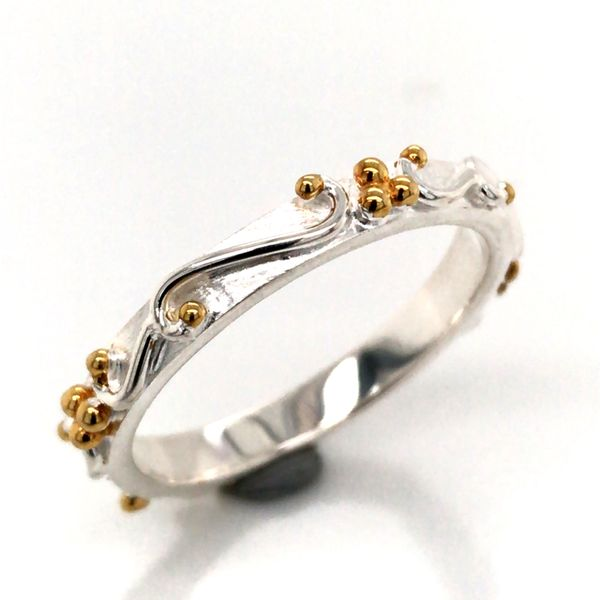 Silver & 22kt Yellow Gold Ring- Size 8 Bluestone Jewelry Tahoe City, CA