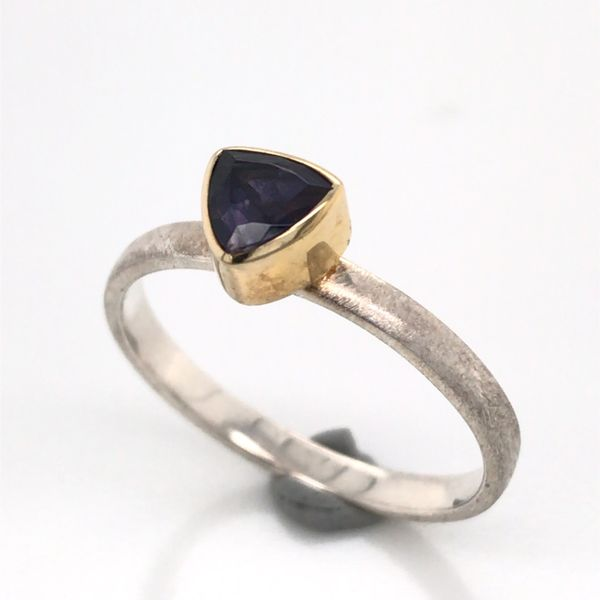 Silver with 22kt Yellow Gold Ring a Iolite - Size 7 Image 2 Bluestone Jewelry Tahoe City, CA