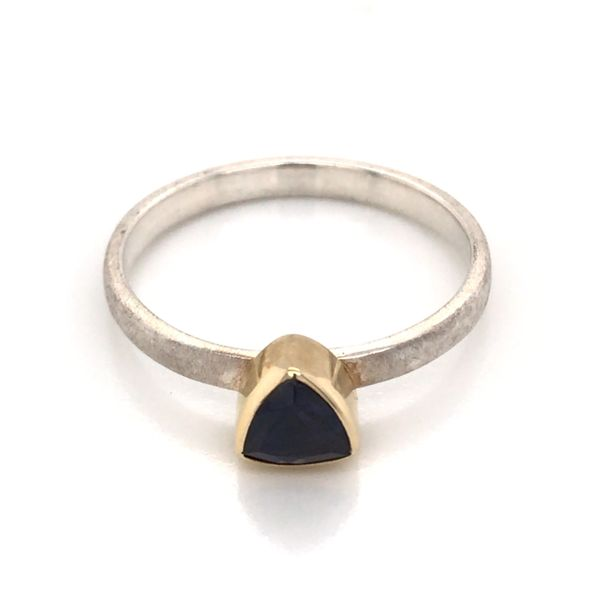 Silver with 22kt Yellow Gold Ring a Iolite - Size 7 Image 3 Bluestone Jewelry Tahoe City, CA