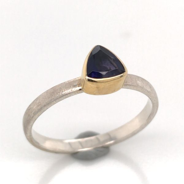 Silver with 22kt Yellow Gold Ring a Iolite - Size 7 Bluestone Jewelry Tahoe City, CA