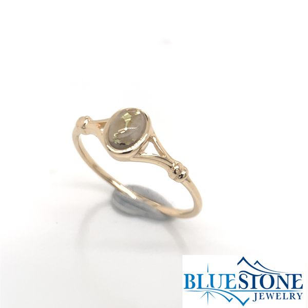 14K Yellow Gold Ring w/ Gold Quartz- Ring size 7.5 Image 2 Bluestone Jewelry Tahoe City, CA