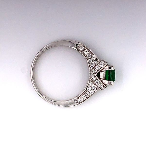 18 Karat White Gold Ring with 1.16 Carat Tsavorite Garnet and Diamonds Image 3 Bluestone Jewelry Tahoe City, CA