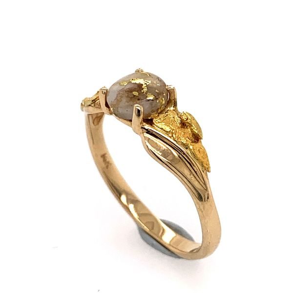 14K Yellow Gold Ring w/ Gold Quartz & Gold Nuggets Image 2 Bluestone Jewelry Tahoe City, CA