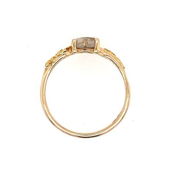 14K Yellow Gold Ring w/ Gold Quartz & Gold Nuggets Image 3 Bluestone Jewelry Tahoe City, CA