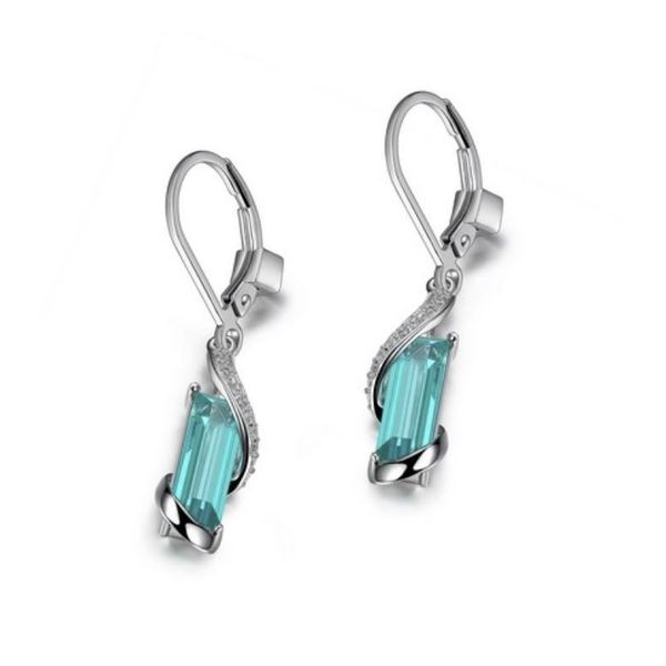 Silver w/ Rhodium Plating Earring w/ Green Mystic Quartz & CZ's Bluestone Jewelry Tahoe City, CA