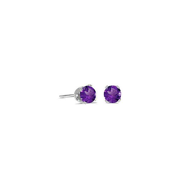 14 Karat White Gold 4mm Amethyst Stud Earrings Bluestone Jewelry Tahoe City, CA