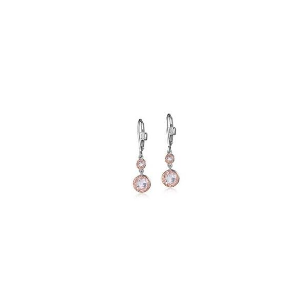 Silver w/ Rhodium/14K Rose Gold Plating Earring Bluestone Jewelry Tahoe City, CA