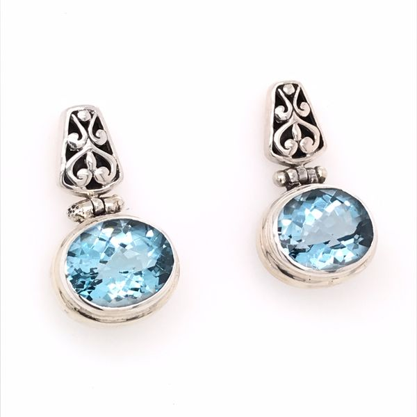 Silver Blue Topaz Earrings Bluestone Jewelry Tahoe City, CA