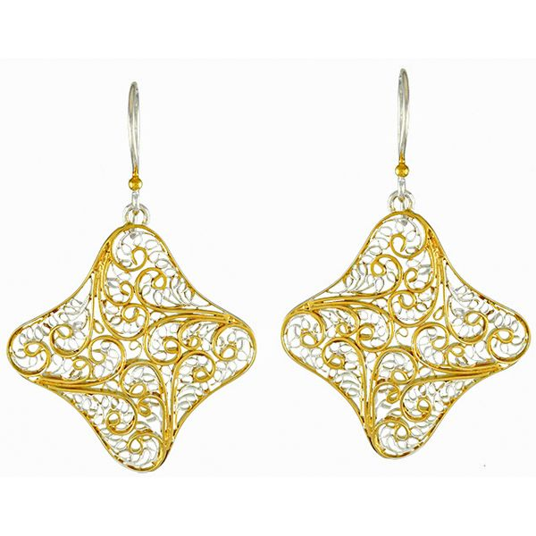 Silver and 22 Karat Yellow Gold Vermeil Earrings Bluestone Jewelry Tahoe City, CA