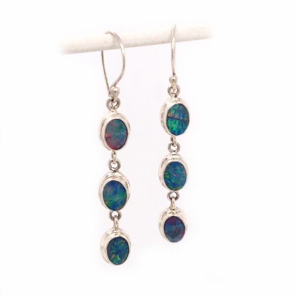 Sterling Silver Australian Opals Wire Earrings Bluestone Jewelry Tahoe City, CA