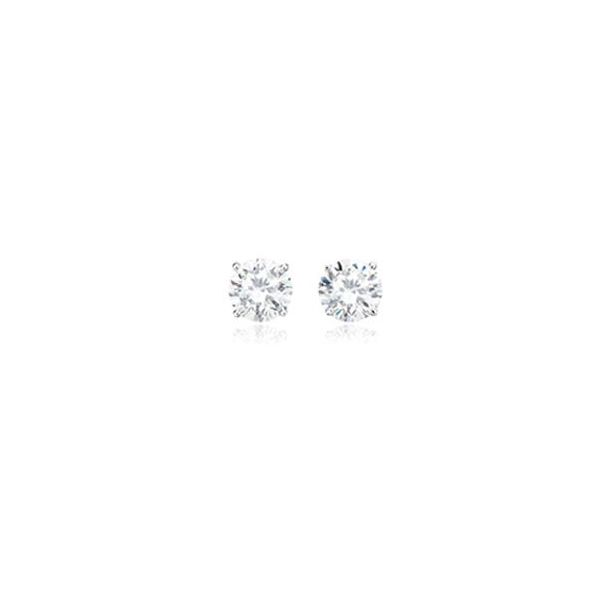 Silver with Platinum Plating 9.4mm CZ Earrings Bluestone Jewelry Tahoe City, CA