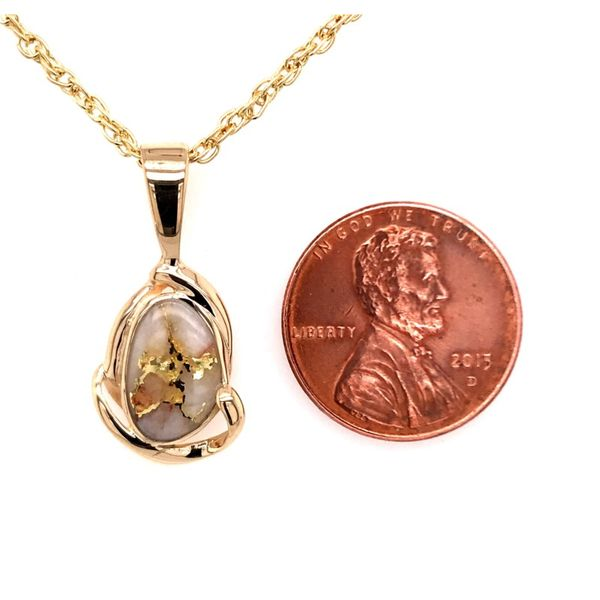 14 Karat Yellow Gold Pendant with Gold Quartz Image 4 Bluestone Jewelry Tahoe City, CA