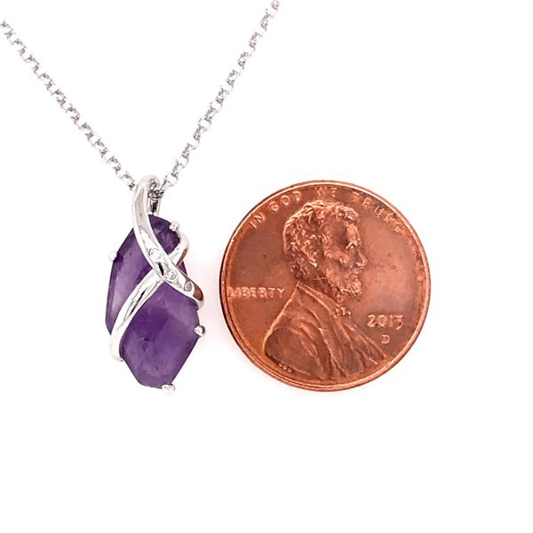 Sterling Silver Amethyst Necklace with Ruby Image 2 Bluestone Jewelry Tahoe City, CA