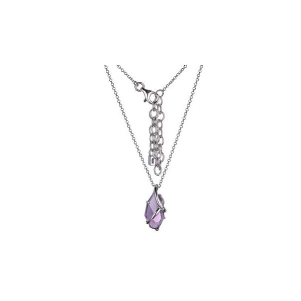 Sterling Silver Amethyst Necklace with Ruby Image 3 Bluestone Jewelry Tahoe City, CA