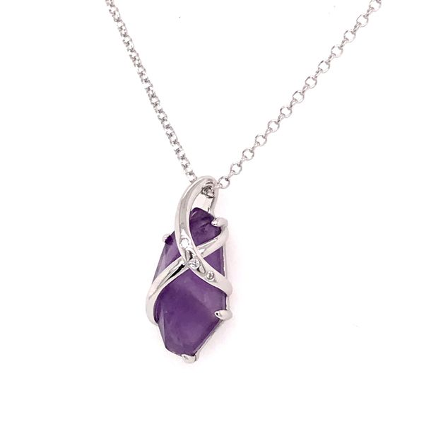 Sterling Silver Amethyst Necklace with Ruby Bluestone Jewelry Tahoe City, CA