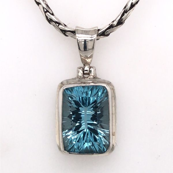 Medium Sterling Silver Topaz Pendant with Chain Bluestone Jewelry Tahoe City, CA