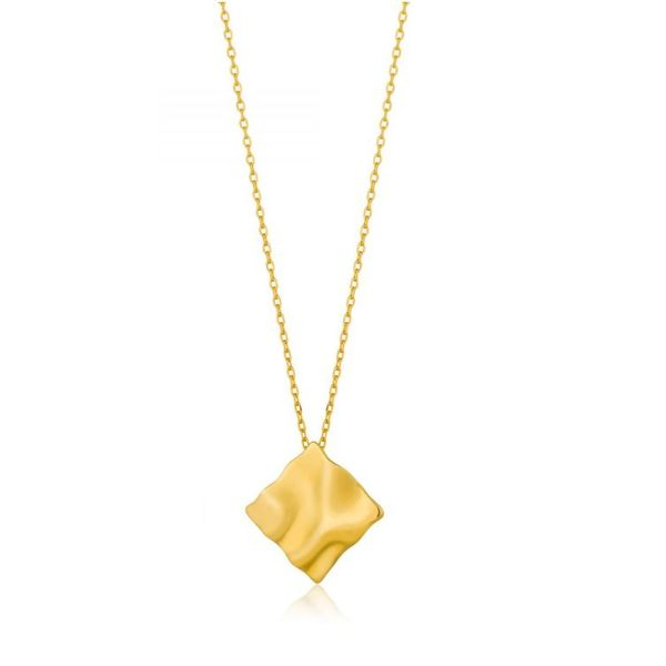 Sterling Silver 14K Yellow Gold Plated Diamond Shaped Necklace Bluestone Jewelry Tahoe City, CA