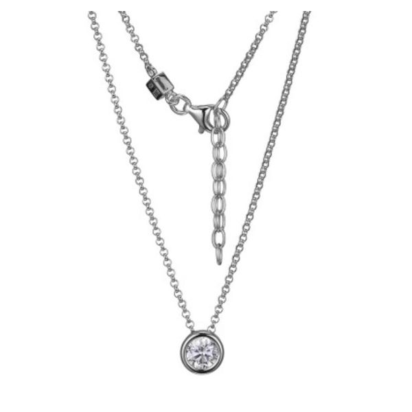 Sterling Silver Cubic Zirconia Necklace with Ruby Bluestone Jewelry Tahoe City, CA