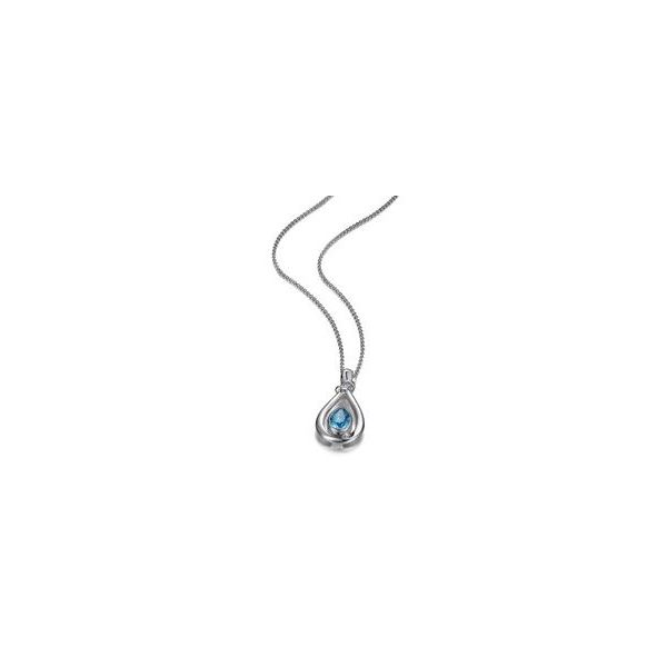 Sterling Silver Pendant with Blue Topaz and Chain Bluestone Jewelry Tahoe City, CA