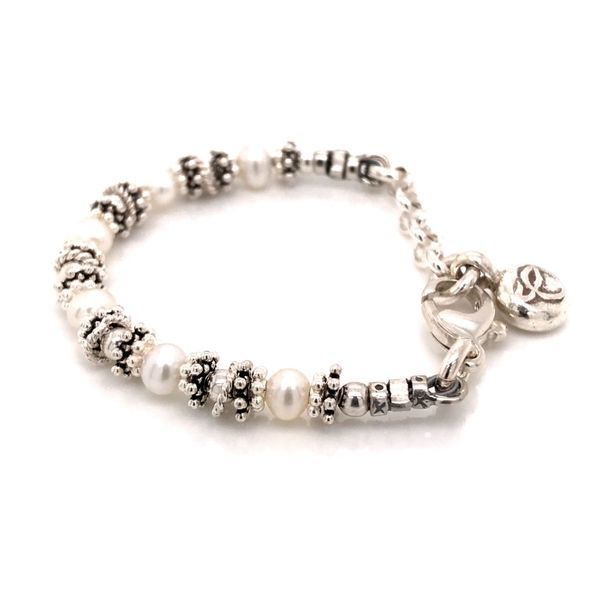 Baby Sterling Silver Pearl Adustable Bracelet 4-5