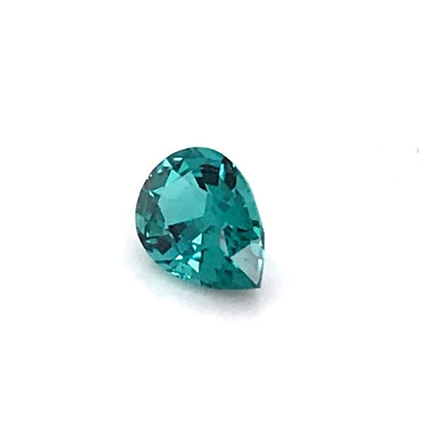 1.47 Carat Pear Cut Blue Green Tourmaline Loose Gemstone Image 2 Bluestone Jewelry Tahoe City, CA