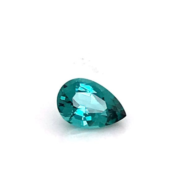1.47 Carat Pear Cut Blue Green Tourmaline Loose Gemstone Image 3 Bluestone Jewelry Tahoe City, CA