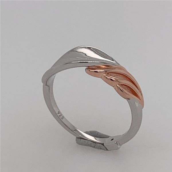 Sterling Silver & Rose Gold Petal Ring- Size 7 Image 3 Bluestone Jewelry Tahoe City, CA