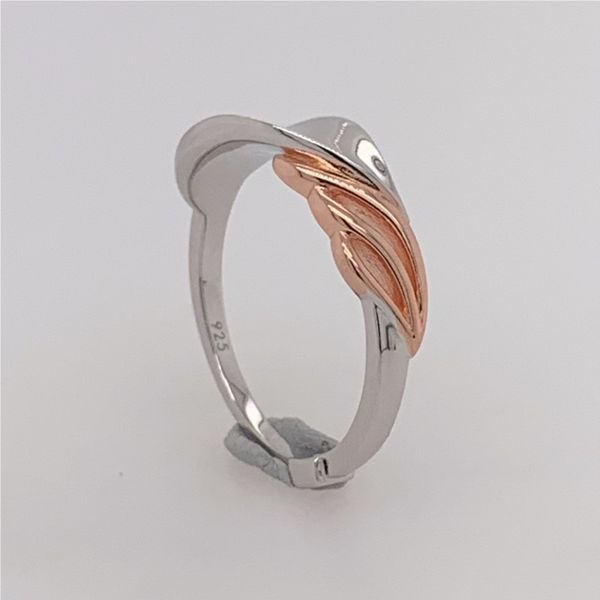 Sterling Silver & Rose Gold Petal Ring- Size 7 Image 4 Bluestone Jewelry Tahoe City, CA