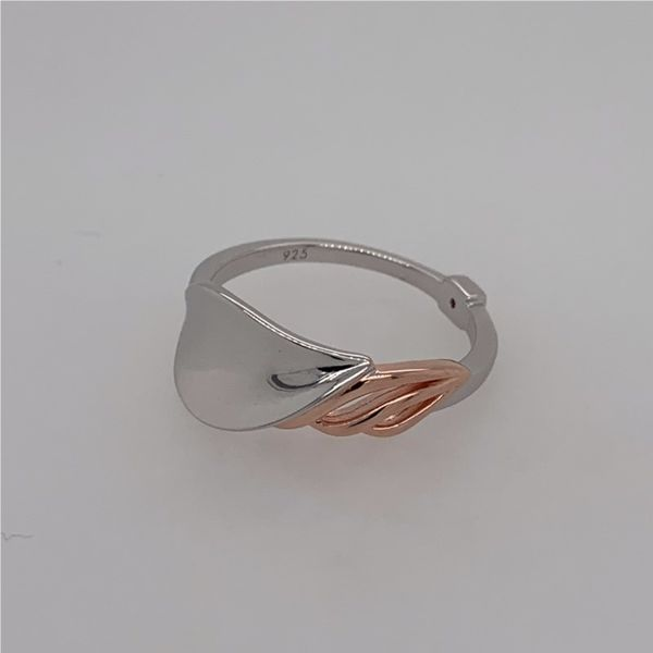 Sterling Silver & Rose Gold Petal Ring- Size 7 Image 5 Bluestone Jewelry Tahoe City, CA