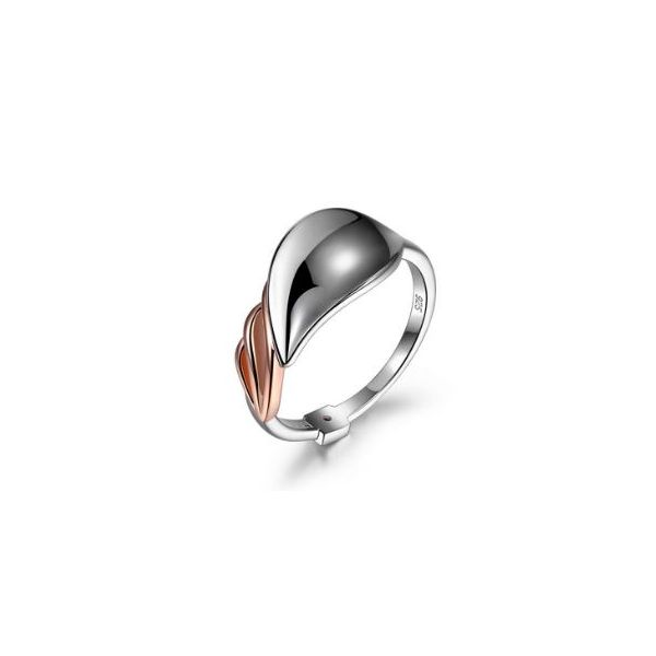 Sterling Silver & Rose Gold Petal Ring- Size 7 Bluestone Jewelry Tahoe City, CA