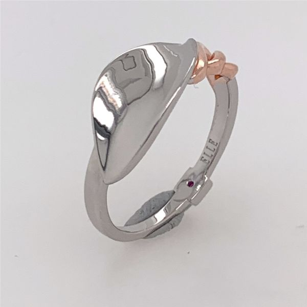 Sterling Silver & Rose Gold Petal Ring- Size 8 Image 2 Bluestone Jewelry Tahoe City, CA