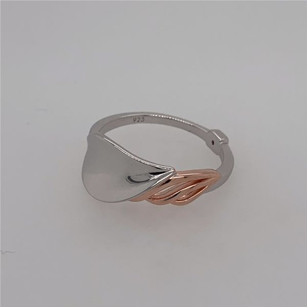 Sterling Silver & Rose Gold Petal Ring- Size 8 Image 5 Bluestone Jewelry Tahoe City, CA