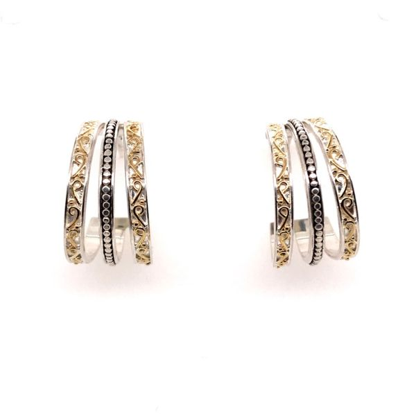 Sterling Silver & 22 Karat YG Hoop Earrings Bluestone Jewelry Tahoe City, CA