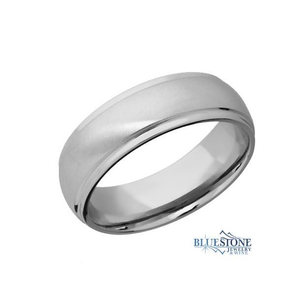 7mm Titianium Band w/ an Angle Satin Finished Middle Section & Polish Stepped Down Edges Bluestone Jewelry Tahoe City, CA